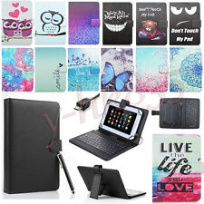 """PU Leather Keyboard Case Cover For KOBO Pendo Pad PendoPad 7"""" /8'' /10'' Tablets"""