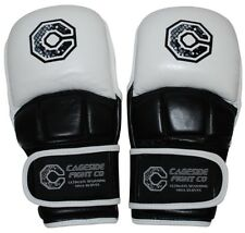"""Cageside """"Ultimate"""" Sparring/Training MMA Safety Gloves GENUINE LEATHER"""