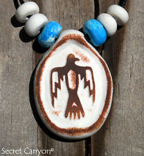 ~~THUNDERBIRD~~Native American Clay Pendant Necklace with Handmade Beads