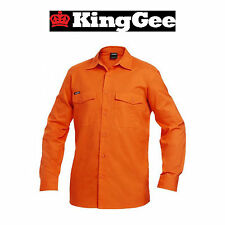 Mens KingGee WorkCool 2 Long Sleeve Modern Fit Hi-Vis Work Shirt Light K54805
