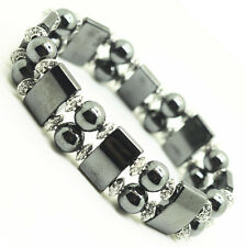 Fashion Natural Jewelry Round Bead Hematite Magnetic Healing Crystal Bracelet
