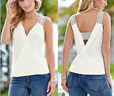 T-Shirt Blouse Summer Sleeveless Tank Tops Casual Top Women New Blouse Vest