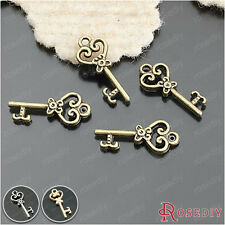50PCS 21*9MM Zinc Alloy Key Charms Pendants Jewelry Findings Accessories 25950