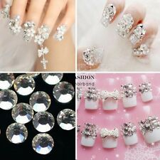 20000pcs Clear Crystal Rhinestone Beads Glitter Nail Art Tips Decoration 2mm Hot