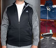 *NWT* ADIDAS MENS TECH FLEECE FULL ZIP HOODED JACKET WITH CLIMAWARM TECHNOLOGY