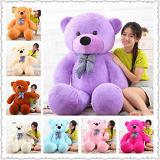 80-220CM Giant Bow tie Cute Plush Large Stuffed Teddy Bear 100% Cotton Toy Gift