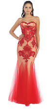 Long Prom Strapless Sweetheart Sequins Lace Homecoming Evening Dress