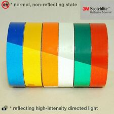 "3M™ Scotchlite type 580 Reflective vinyl Tape 8 colors range 1""/2"" x 2MT new !!"