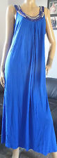 M&S COLLECTION ladies royal blue sleeveless round neck jersey dress size 20
