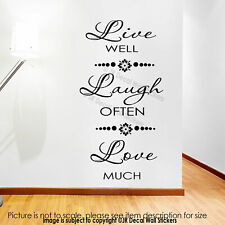 LIVE Well LAUGH Often LOVE Much Wall Stickers LIVE LAUGH LOVE Wall Decals Decor