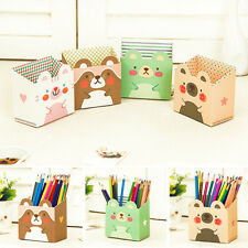 Makeup Storage Box Cute Desk Organizer Cosmetic Stationery DIY Paper Board