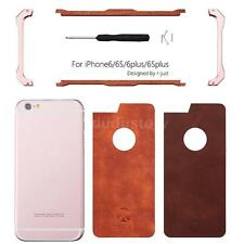 R-JUST Wooden Phone Case Protect Back Cover Shell+Metal Frame for iPhone 6 6s