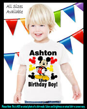 Mickey Mouse Clubhouse Inspired Birthday Party Boy Personalized Custom T Shirt