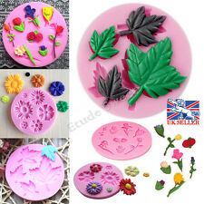 UK Silicone Flower Mold Cake Decorating Chocolate Sugarcraft Fondant Mould Tool