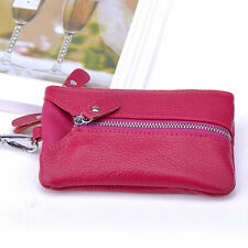 Genuine Leather Phone Pouch 6 Key Chain Ring Holder Wallet Case