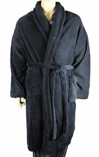 Mens Kingsize Big Size Soft Warm Fleece Dressing Gown Robe Dark Navy Blue