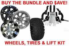BUY THE BUNDLE AND $AVE! GOLF CART WHEELS, TIRES & JAKE'S LIFT - 94-01 EZGO TXT