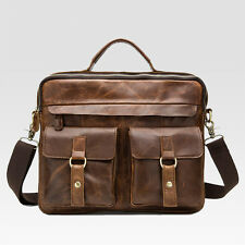 Vintage Real Leather mens bag briefcase message shoulder bag business bag
