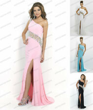 Sexy One-Shoulder Formal Long Party Gown Prom Cocktail Bridesmaid Evening Dress