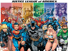 """""""Justice League of America"""" Canvas or Print Wall Art"""