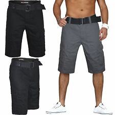 New Mens Airwalk Belted Cargo Chino Combat Shorts Designer Branded Pants Bottoms