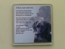 Personalised Coaster - Mum Poem + Free Gift Box  -  Various designs