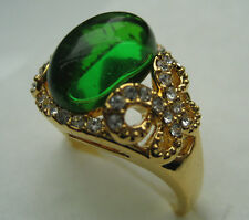size:5-9 new arrival lady's amethyst cz&emerald 10kt yellow gold filled  GF ring