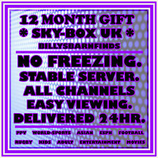████[12 MONTH SKY BOX GIFT 28.2 SAT SUB - ALL CHANNELS 101 IS BBC1 HD SPORT]████