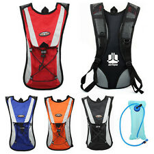 Cycling Backpack Water Bag Hiking Pouch Climbing Hydration Pack With Bladder New