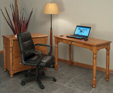 Home Office Computer Desk Solid Oak Country Style #8843