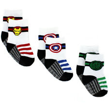 Avengers Baby Toddler Boys 3 pack Gripper Athletic Socks AVA991 12M-4T