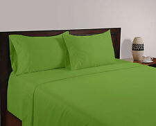 Egyptian Cotton 800 1000 TC Sage Green Solid & Striped US Bedding Set's All Size