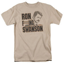 Parks & Recreation TV Show Ron F***ING Swanson Picture Tee Shirt Adult S-3XL