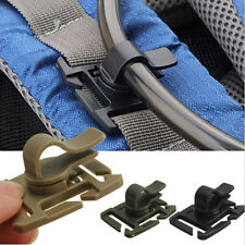 2PCS Hydration Bladder Tube Trap Hose Clip Strap For Molle Fits Camelbak