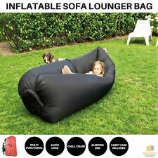 Inflatable Sofa Lounger Air Bag Festival Camping Holiday Sleeping Beach Bed New