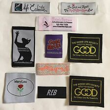 Custom Sew In Woven Labels Garment Labels Personalised Fabric Labels Text Only