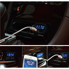 Dual 2 USB Port Car Charger Power Adapter VoltageTester+USB Charger Data Cable R