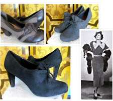 Ladies 1930s Style Shoes Black, Brown and Gray Sizes 6 1/2 - 9