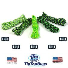 Paracord Hero 550lb Paracord Candy Apple Combo DIY Crafting Kits w/5 Buckles