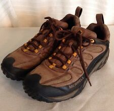 MERRELL Hiking Boots Shoes DARK EARTH J15125 Mens SZ 10 Brown Leather Waterproof
