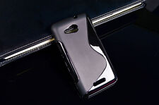 S Wave Line shape Slim Durable Clear Soft TPU Case Cover For Samsung&iphone&LG