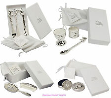 CHILDRENS Silver Plated GIFT Sets For New BORN BABY Christening Present Girl Boy