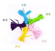 "PUNK Rock long Shoe Laces knee high Boots Shoelaces string 134"" Choose Colors"