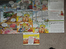 14 seaside cards some bamforth some salmon cont size good condition