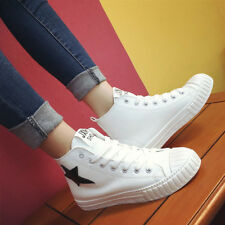Fashion Womens Casual Flat Lace Up Star Ankle Ahletic Sneakers Korea Comfy Shoes