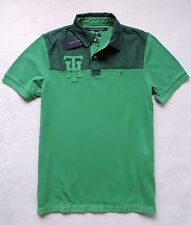 NWT Tommy Hilfiger Men's Custom Fit Short Sleeve Polo, Green, Size: M