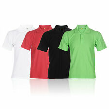 Solid Color Men's Lapel Shirt Short Sleeve Casual Tee T-shirt M L XL XXL 3XL KG