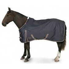 Gallop Trojan Light Weight Standard Turnout Horse Rug - Navy & Green