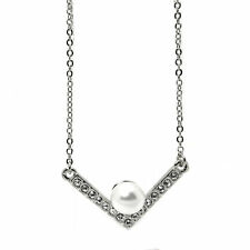 Pearl and Crystal Pavé Collar Necklace featuring Crystals Made by SWAROVSKI®