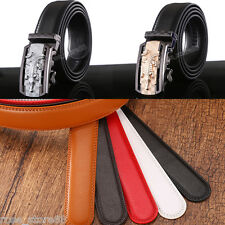 Luxury Men's Genuine Leather Automatic Buckle Waist Strap Belt Waistband 5Colors